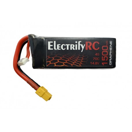 1500mAh 4S 75/150C Graphene LiPo Battery (XT60)